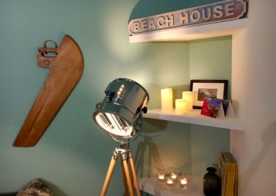 The Beach House - détail salon